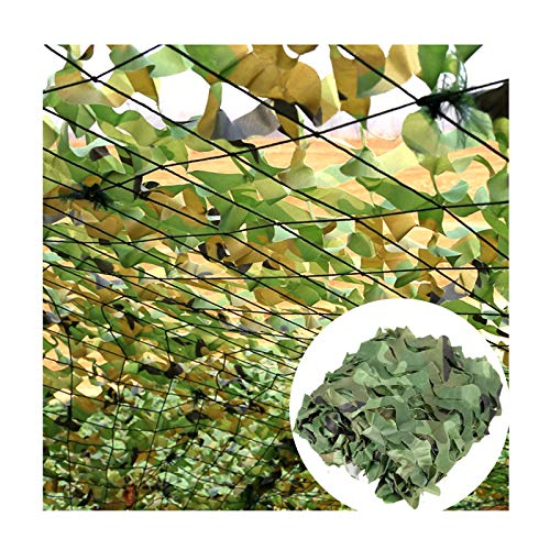 LJIANW Sun Shade Sail, Woodland Camouflage Netting Army Camo Net For Camping, Backdrop Decoration, Shade, Garden Decoration Pavilion Block The Sun (Color : Green, Size : 2x4m)