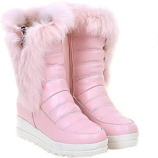 Eclimb Women Fully Fur Lined Waterproof Outdoor Slip-on Winter Snow Boots 43f4269029e4