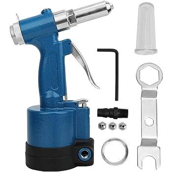 remachadora neum/ática Herramienta de remachado de pistola de remache ciega neum/ática para clavos de aluminio//hierro//acero inoxidable Pistola de remachar