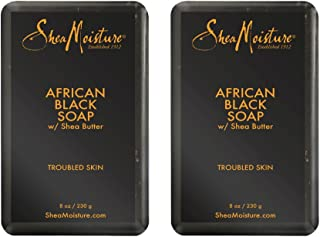 Shea Moisture African Black Soap With Shea Butter, 1 Count, Pack of 2
