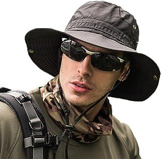 サファリハット メンズ 帽子 つば広 軽薄 通気性抜群 日除け 紫外線対策 uvカット 折りたたみ あご紐付き アウトドア 釣り ハイキング 登山 男女兼用
