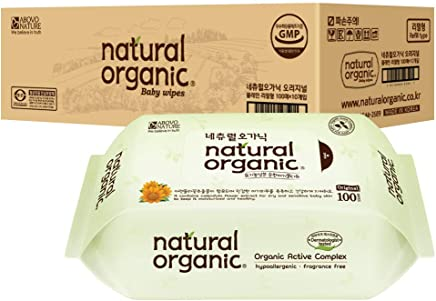 Lovesprings Natural Organic Original Plain Wet Wipes Refill Case, Pack of 10