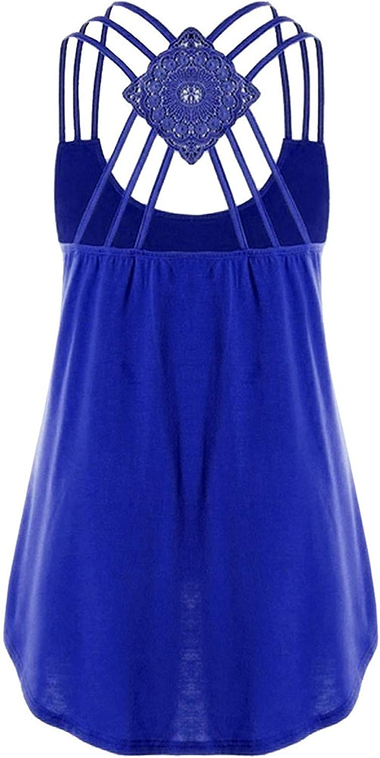 AODONG Tank Tops for Women Casual, Womens Summer Strappy Sleeveless Loose Fit Tank Shirts Crop Tops Tunics Blouses