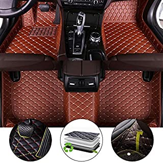 All Weather Floor Mat for 2006-2015 Ford Explorer Full Protection Car Accessories Brown 3 Piece Set