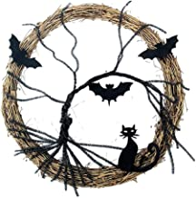 DYNWAVE Grinalda de Halloween Iluminado Cat Decoração Acessório para Comemoração