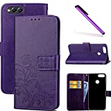 COTDINFOR Huawei Honor 7X Case Wallet Bookstyle Pu Leather