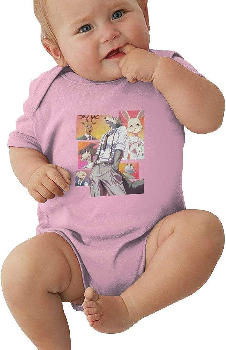 SHHXYS Beastars Poster Onesies Black Stylish Bodysuit Baby Boy