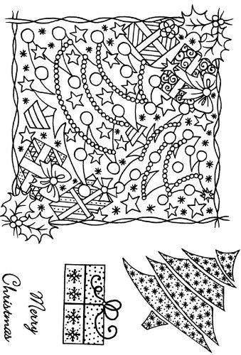 Art Stamps A6 Sue Dix Colis et Arbre de Montage Tampon