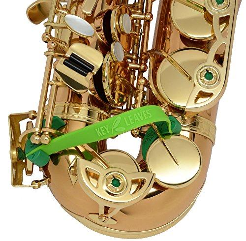 Key Leaves Saxophone Key Props, Silicone Sax Pad Saver for Alto, Tenor, Bari, and Bass Saxophone