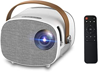 جهاز عرض LED صغير YG230 مزود بمكبر صوت مدمج به 1080P مزود بـ 1000 لومن مع واجهة AV/USB/HD/TF/Micro USB/وصلة صوت خارجية للت...