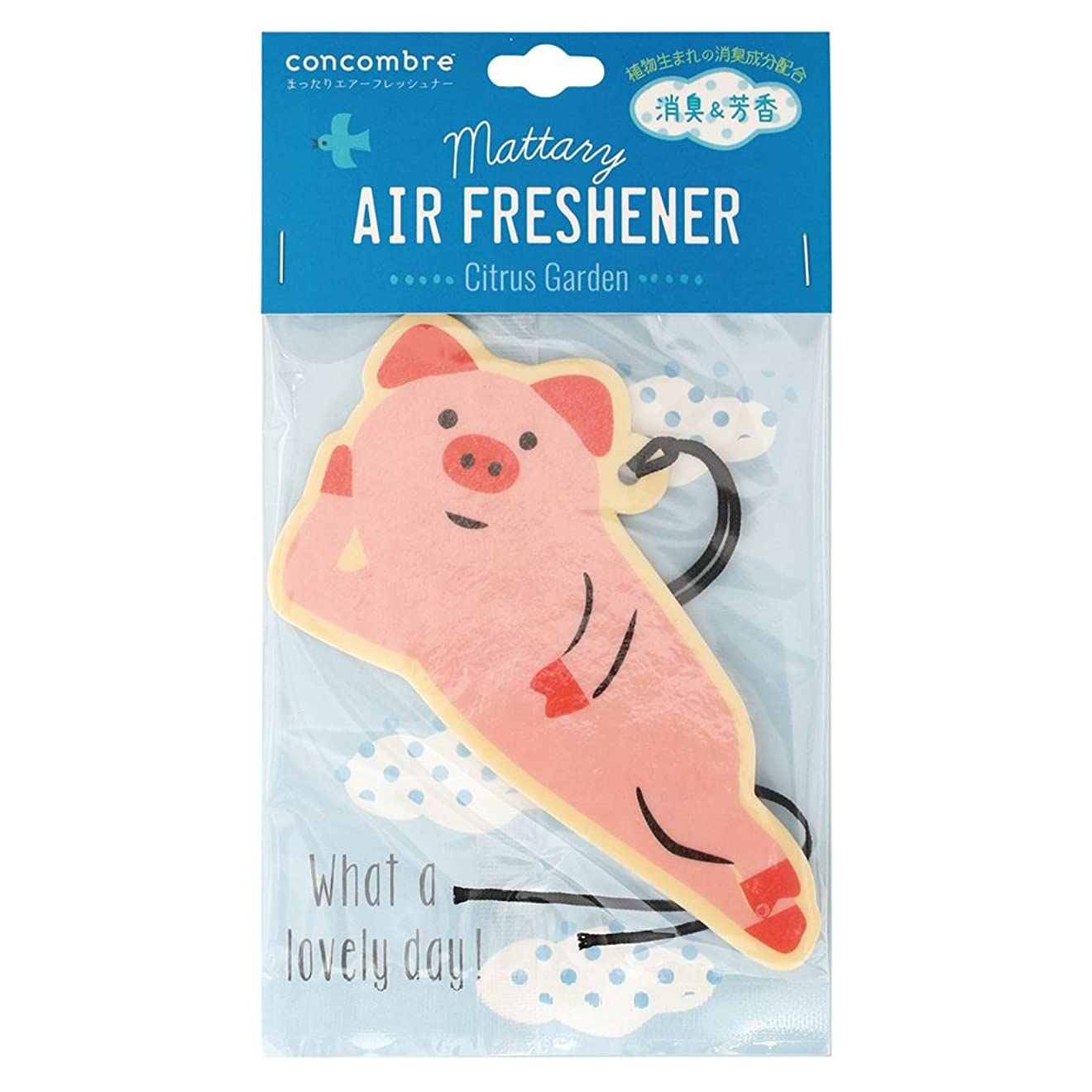 全体影響力のある限られたconcombre 芳香剤 まったりエアーフレッシュナー 吊り下げ 消臭成分配合 シトラスの香り OA-DKA-5-2