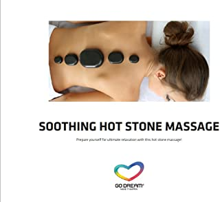 Soothing Hot Stone Massage in New York Experience Gift Card NYC - GO DREAM - Sent in a Gift Package