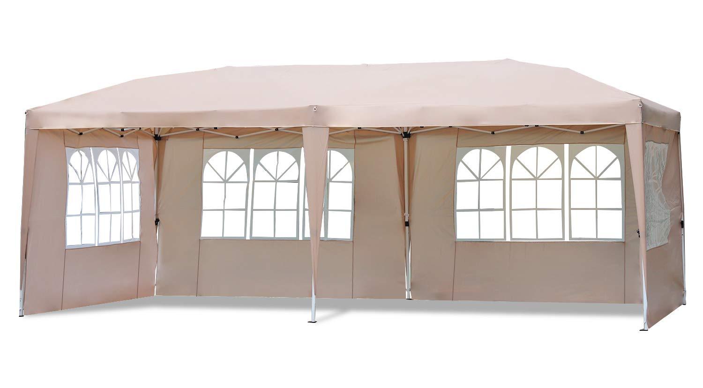 Sekey 3x6m Cenador para Jardin Plegable, Impermeable Carpa de ...