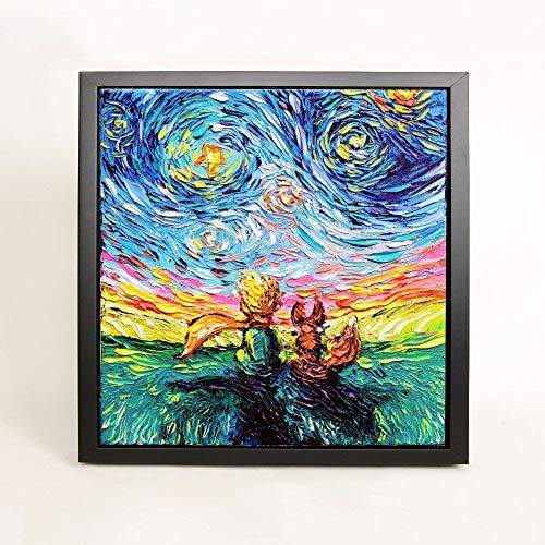 Atwo3242de The Little Prince Art Paper Print Le Petit Gogh Starry Night artworkWall Art Choisissez la Taille pour Chambre d'enfant bébé Baby Shower Nouvelle Maman