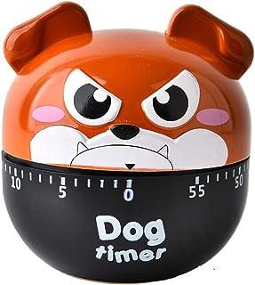 SUKRAGRAHA Cute BullDog Egg Timer 60 Minutes Mechanical Rotating Cooking Kitchen Timer Exercise Study (Brown)