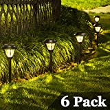 SOLPEX Solar Path Lights Outdoor, 6 Pack LED Solar Pathway Lights, Waterproof Solar Yard Lights for Yard, Patio, Landscape, Walkway (Warm White)