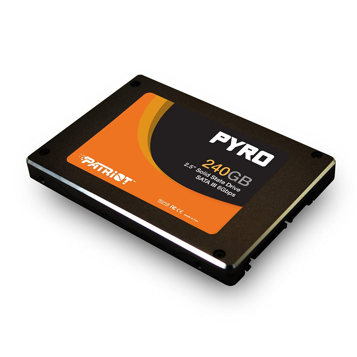 """Patriot Pyro 240GB SATA 3 2.5"""" SSD - With Transfer Speeds of Up-To 550 MB/s read and 530 MB/s write - 85,000 IOPS"""