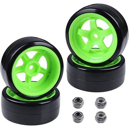 4x12mm Hex 3 Degree RC Drift Tires Wheel Rims Set For HPI HSP 1:10 On-Road Car