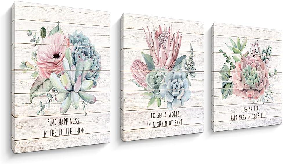 3 新登場 Pieces Floral Canvas Wall Art Giclee Paintings Flowers Print A 高い素材