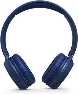 JBL T500 Wireless On-Ear Headphones with Mic, Blue