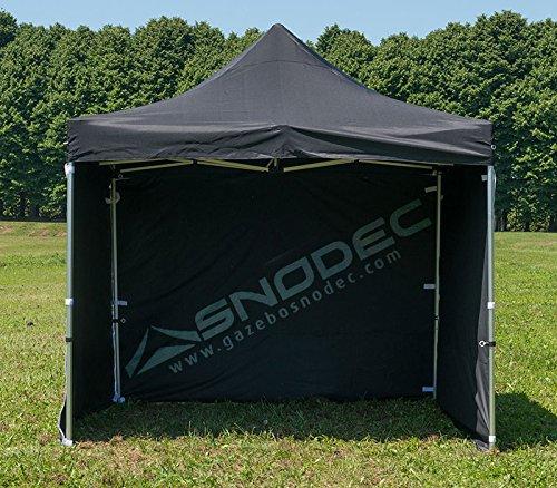 SNODEC Gazebo RAPIDO 3x3 Nero in Acciaio 30mm+ Laterali. Impermeabile 100% GARANTITO