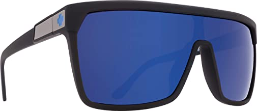 Spy Optic Flynn 670323973317 Wrap Sunglasses, 1.5 mm (Soft Matte Black/Happy Bronze/Dark Blue Spectra)