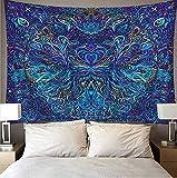 WERT Tapiz de Arte psicodélico Bohemio para Colgar en la Pared, Fondo Decorativo para Sala de Estar, Dormitorio A17, 95x73cm