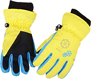 Azarxis Kids Children Snow Gloves Winter Windproof Waterproof Ski Gloves for Snowboarding, Sledding, Cycling