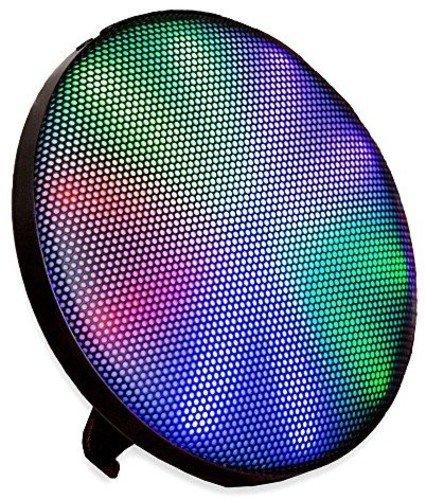 ION Audio Helios Altoparlante senza Fili da Parete, Mensola o Tavolo con Luci Colorate, Batteria Ricaricabile e Collegamento Bluetooth