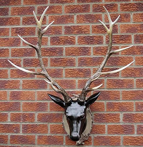 New Contemporary Resin Wall Art For Home Or Garden – Large Deer Stag Head