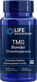 Life Extension TMG Powder 500 mg (Betaine Anhydrous Trimethylglycine) For Healthy Homocysteine Levels - Cardiovascular & B...