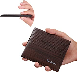 Ferdous Men Wallet, Credit Card Genuine Leather Slim Men's Wallet Leather, Waterproof, RFID Blocking, with ID Window, Best...