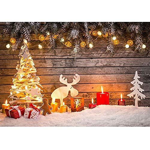 BDDFOTO 2 * 1.5m Weihnachten Fotografie Hintergrund Weihnachten Backdrop für Baby, Neugeborene, Kinder, Objekte Fotografie Video Studio
