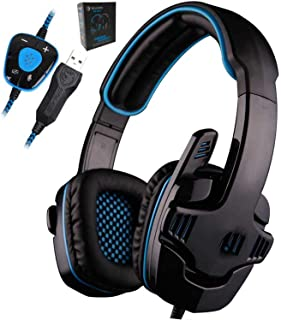 MAKEEN TSHIRT Gaming Headset 7.1 surround USB Headphone with Microphone Noise Cancelling Mic for Computer Gamer