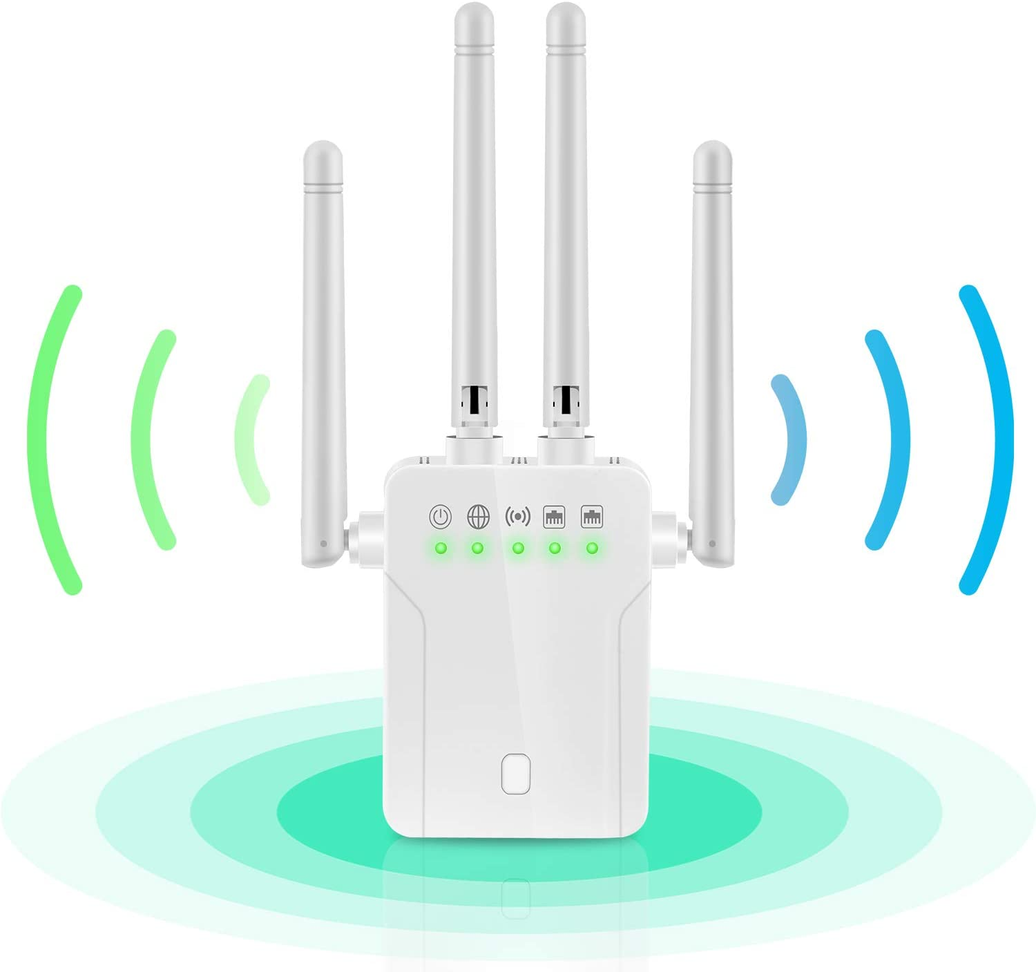 WiFi Booster Covers 20 Devices LAN//Ethernet Ports WiFi Repeater Internet WiFi Range Extender Super Signal Booster 1200 MBPS 2.4 /& 5GHz Wireless Internet Amplifier