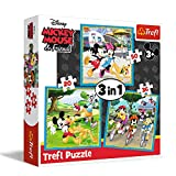 Trefl 34846 - Puzzle 3 en 1 modelo Minnie & Mickey Mouse 20-36-50 piezas, multicolor , color/modelo surtido