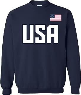 Block USA Flag - American United States Patriotic Crewneck Sweatshirt