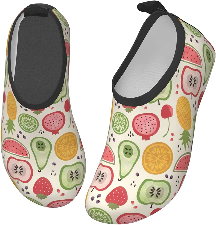 Jedenkuku Lemon Pineapple Watermelon Cherry Strawberry Fruit Children's Water Shoes Feel Barefoot for Swimming Beach Boating Surfing Yoga