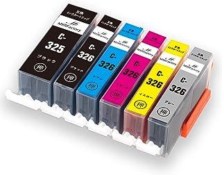 キヤノンインクカートリッジ326 canonインク326 互換インク BCI-325XL+BCI-326XL 6色 純正と併用可 大容量 PIXUS MG8230 MG8130 MG6230 MG6130【MXRFactory】 (6色マルチパック)