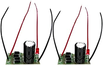 2pcs Premium AC to DC Power Conversion Module, 1N4007 Full Bridge Rectifier Filter 12V 1A AC to DC (25V1000uF+Cable)
