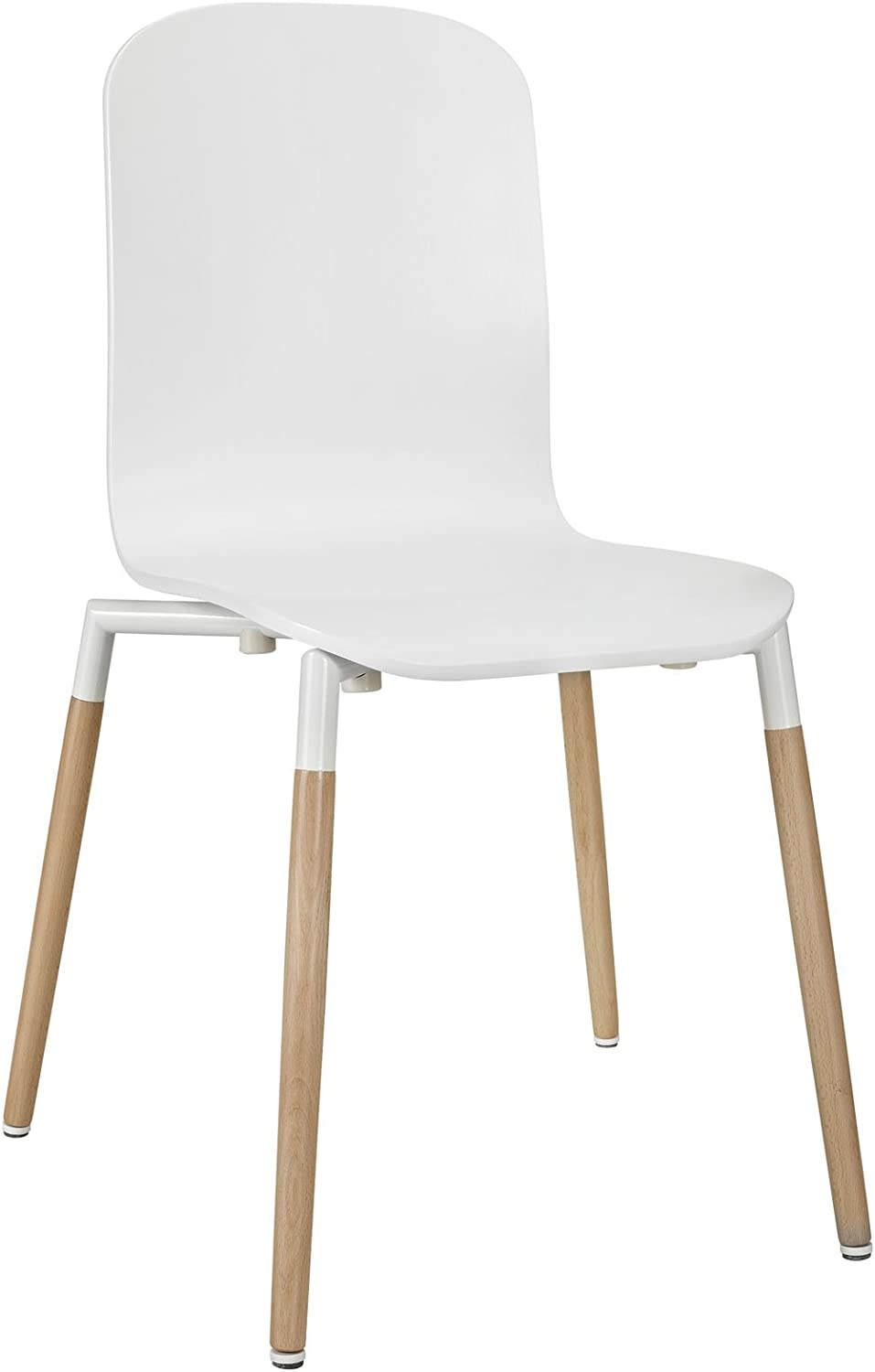 Modway Stack Wood Dining Chair, White