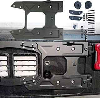 Lantsun Spare Tire Carrier Tailgate Bracket Hinge Reinforcement Kits Oversized for 2018-2019 Jeep JL Wrangler