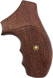 RRW02 ## New Grips Rossi small frame round butt grips R352 R461 R462 six shot revolver chambered in .38 Special or .357 Magnum Grips Checkered Hardwood Hard Wood Handmade Birthday Gift handicraftgrips