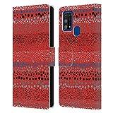 Head Case Designs Licenciado Oficialmente Ninola Pequeños Puntos Geométrico 2 Carcasa de Cuero Tipo Libro Compatible con Samsung Galaxy M31 (2020)