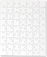 Hygloss Products Blank Jigsaw Puzzle – Compoz-A-Puzzle – 8.5 x 11 Inch - 63 Pieces, 4 Puzzles with Envelopes