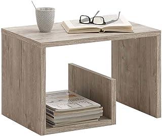 Tavolino da Caff/è moderno in un design alla moda Homidea ROSE Tavolino basso da salotto Tavolino da divano Bianco//Noce