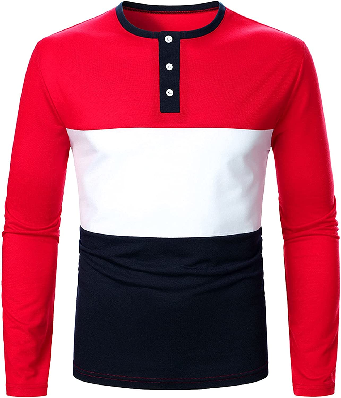Polo Shirts Men Long Sleeve Regular Fit Basic Tee Striped Cotton 2021 Cheap 100% Best Men's Warm Pure Henley Classic Top
