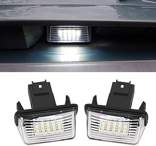 Busirde 1 Paire 12V LED Plaque dimmatriculation Lumi/ère de Remplacement pour Voiture Citroen C3-C5 Peugeot 206//207//307//308//406//407