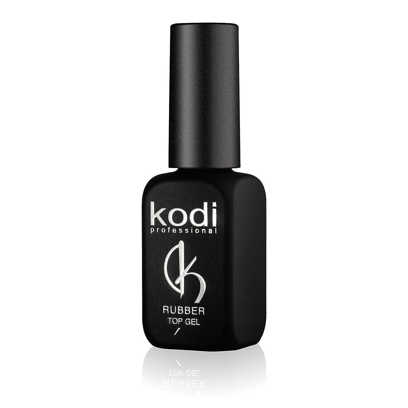 バルセロナ虚偽元気なProfessional Rubber Top Gel By Kodi | 12ml 0.42 oz | Soak Off, Polish Fingernails Coat Gel | For Long Lasting Nails Layer | Easy To Use, Non-Toxic & Scentless | Cure Under LED Or UV Lamp