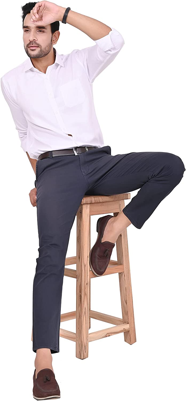 Next Heritage Button Down Shirts for Men Regular Semi Slim Fit Shirt Casual Formal Shirt Solid Cotton Long Sleeve Shirts